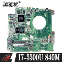 Akemy Laptop motherboard For HP Pavillion 17 F 17' Inch I7 5500U 840M Mainboard N15P GT A2 DAY31AMB6C0 SR23W