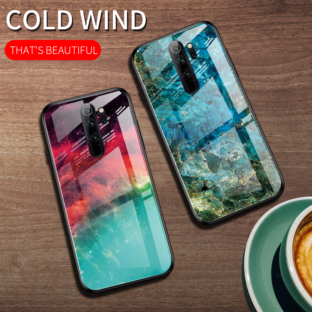 Eqvvol Gradient Tempered Glass <font><b>Case</b></font> For Xiaomi Redmi Note 8 <font><b>Pro</b></font> 7 <font><b>K20</b></font> Starry Sky Cover For Mi 9 se A3 Lite Colorful <font><b>Cases</b></font> Coque image