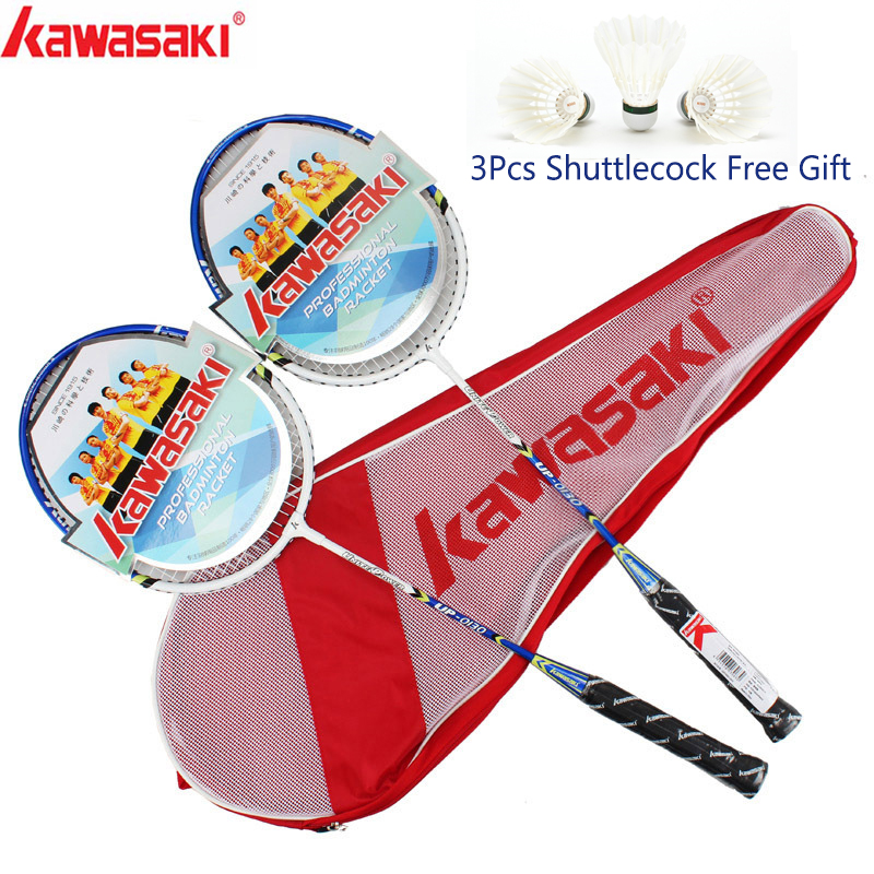 Kawasaki Badminton Racket Aluminum Alloy Frame Badminton Racquet With String UP-0162 With Free Gift Shuttlecock