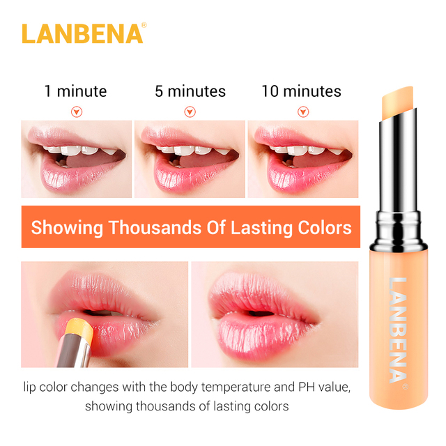 LANBENA Chameleon Lip Balm Rose Hyaluronic Acid Moisturizing Nourishing Lip Plumper Lip Lines Natural Extract Makeup Lipstick 4