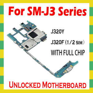 Image 2 - For Samsung Galaxy J3 J320Y J320F Original Unlocked Motherboard Android Clean Mainboard With Full Chips Unlock Main Logic Board