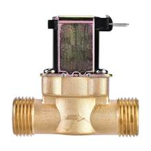Electric Solenoid Magnetic Valve Normally Closed Brass For Water Control DC 24V 3/4inch DC 24V 1/2inch AC 220V 1/2inch 3 Type(China)