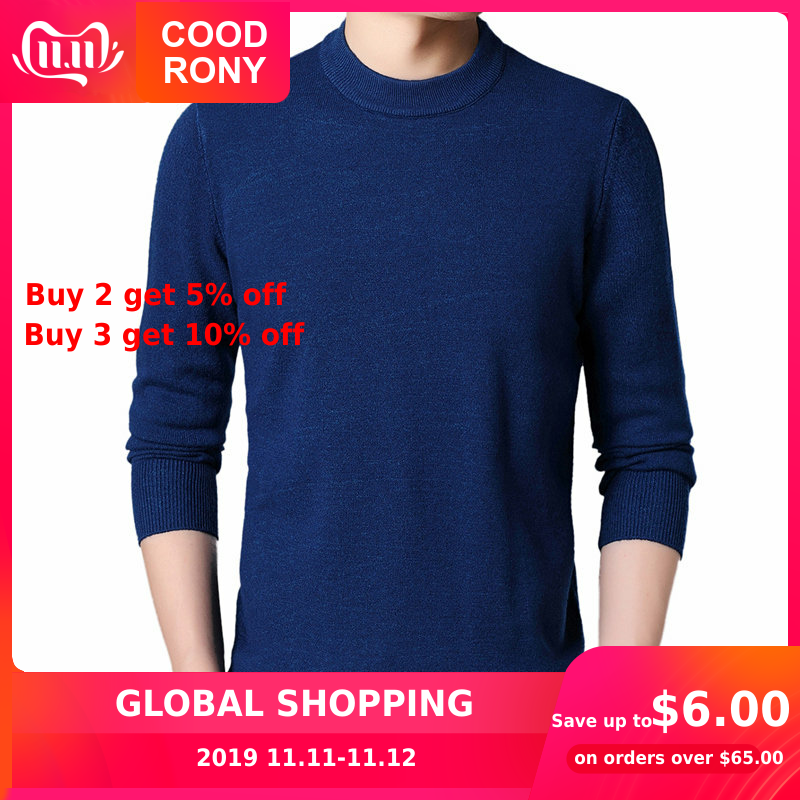 COODRONY Mens Sweaters 2018 Autumn Winter Thick Warm Pullover Men Cashmere Wool Sweater Men Casual O-Neck Jumper Pull Homme 8228
