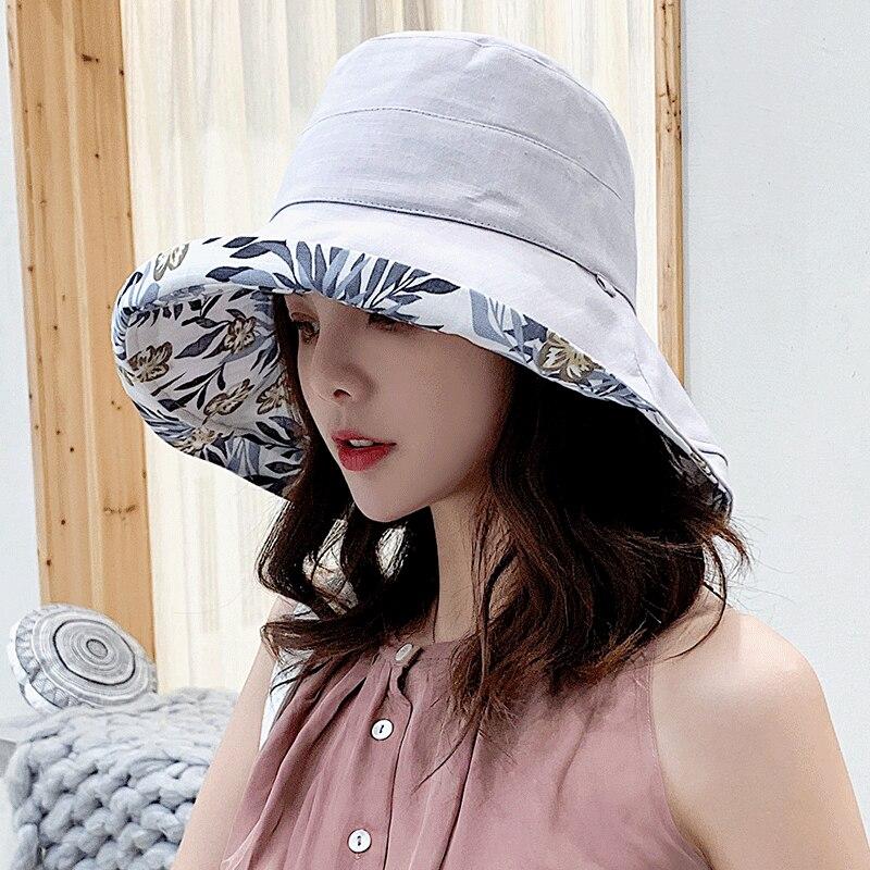 K34 Fashion Summer Big Brim Sun Hat For Female Seaside Sun Protection UV Cap Japanese Wild Fisherman Hat Korean Version 2020 NEW 6