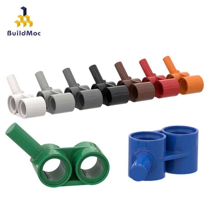 BuildMOC Compatible Assembles Particles 85940 1x2 Tech Rod With Thin Rod Building Blocks Parts DIY LOGO Educational Gift Toys