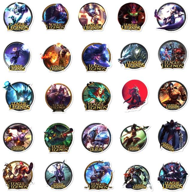 10/30/50pcs/pack League of Legends/LOL Hot Game Graffiti Stickers For Skateboard Helmet Computer Notebook Car Children's Toys 3