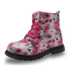 Bottines en cuir PU antidérapantes pour filles, chaussures pour enfants Martin, printemps automne et hiver