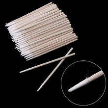 100Pcs% 2FPack Small Cotton Swab Wooden Handle For Tattoo Eyebrow Beauty Makeup Nail