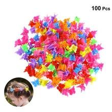 20/50/100 pçs clipes de cabelo borboleta cor misturada mini garras de cabelo grampos barrettes mandíbula headwear acessórios de estilo de cabelo ferramenta beleza