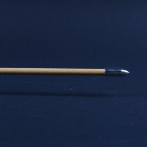 Image 5 - 6/12/24 Uds. De flechas naturales de madera hecho a mano 32 pulgadas con pluma de pavo blanco y punta de flecha de hierro para tiro con arco de 20 60lbs