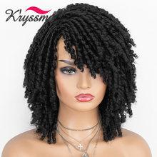 Парик kryssma dreadlock афро вьющиеся синтетические парики для