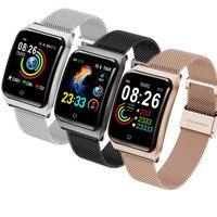 F9 חכם שעון IP68 עמיד למים AF6 Smartwatch מגנטי רצועת קצב לב צג לחץ דם 50 ימים המתנה לנשים גברים