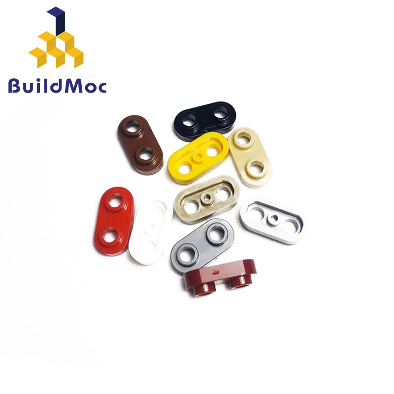 BuildMOC 35480 Plate 1 X 2 Rounded With 2 Open Studsr For Building Blocks Parts DIY LOGO Educational Tech Parts Toys