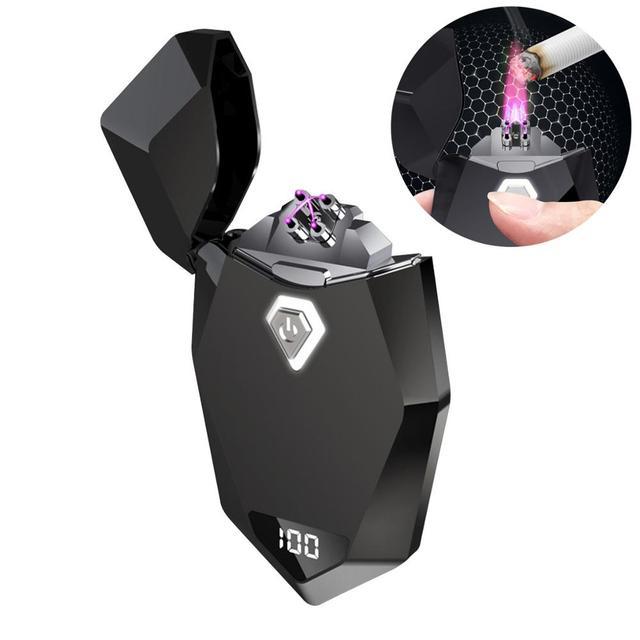 Laser Unusual Plasma Lighter Electric USB Windproof Flameless Cigarette Lighters Gadgets For Men Technology Dropship Suppliers 6