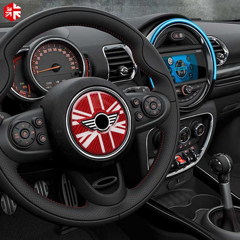 Per Mini Cooper Countryman F60 Volante in Fibra di Carbonio Del Centro di Rotella 3D Sticker Decal Copertura Car Styling Decorazione di Interni