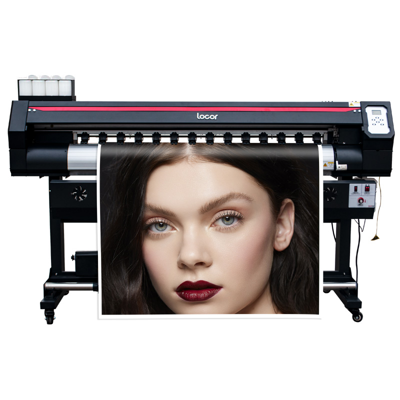 Locor Eco Solvent Printer Easyjet1601 With Single Dx7 Print Head For Car Sticker Pvc Outdoor Large Format Printing Machine