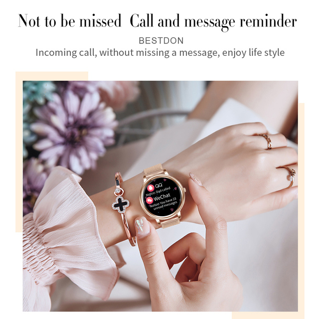 MK20 Smart Watch 2020 Full Touch Screen 39mm Diameter Women Smartwatch For Ladies And Girls Compatible With Android and IOS 4