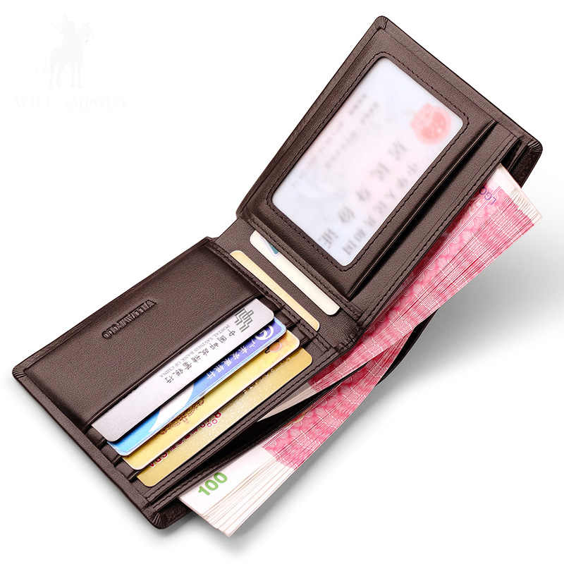 Neue Männer Kurze Brieftaschen Schwarz Braun Bifold Brieftasche Herren Marke Leder Karte Halter Geld Bargeld Brieftasche Geldbörsen Taschen PL171321