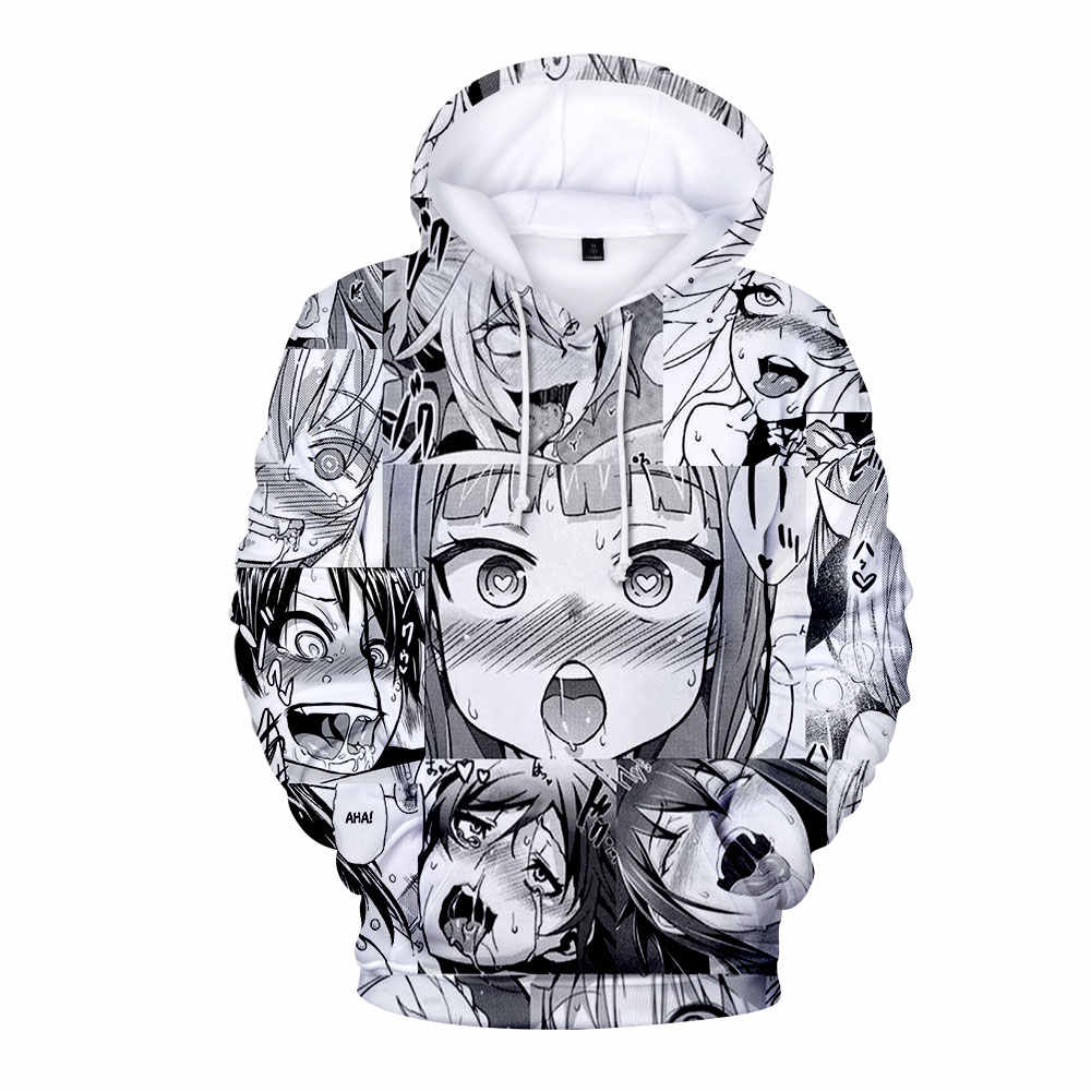 WAMNI ACG 3D  Hoodies Sweatshirts For Men and Women Harajuku Ahegao hoodie Kawaii O-Face Pullover Unisex Costume Tracksuit