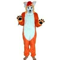2019 Mouth Move Fox Dog Mascot Costume Husky Fursuit Cosplay Animal Mask Halloween US Unisex Cospaly Hallowen Gifts