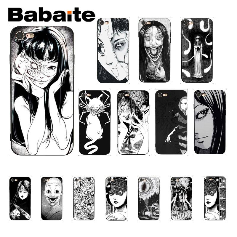 Babaite Junji Ito Tees Horror Black TPU Soft Silicone Phone <font><b>Case</b></font> Cover For <font><b>iPhone</b></font> 8 7 6 6S Plus <font><b>X</b></font> XS MAX 5 5S SE XR Coque Shell image
