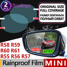MINI R55 R56 R57 R58 R59 R60 R61 Clubman Countryman Hatch Paceman Coupe Full Cover Anti Fog Film Rearview Mirror Accessories 2pcs door rear view mirror covers stickers car styling for mini cooper s clubman countryman paceman r55 r56 r57 r58 r59 r60 r61