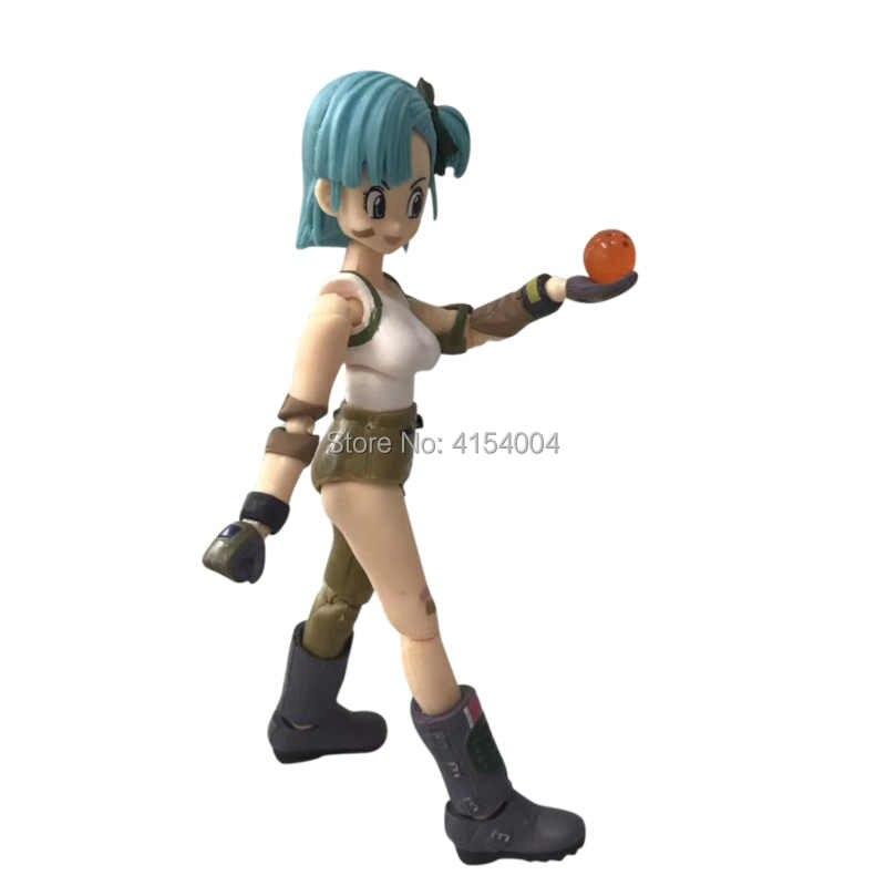 Anime dragon ball z shf figuarts bulma pvc figura de ação modelo brinquedo diy