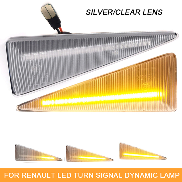 Nrpfell Dynamic Side Markers LED Indicator Turn Signal Lamp for Espace 4 MK4 Vel Satis Wind Avantime Megane 2 Scenic 2