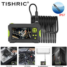 Borescope Pipe Inspection-Camera Led-Lights Cars 1080p 8mm TISHRIC for Articulating