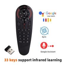 G30 Afstandsbediening 2.4G Draadloze Voice Air Mouse 33 Toetsen Ir Leren Gyro Sensing Smart Rf Afstandsbediening Voor tv Box Android