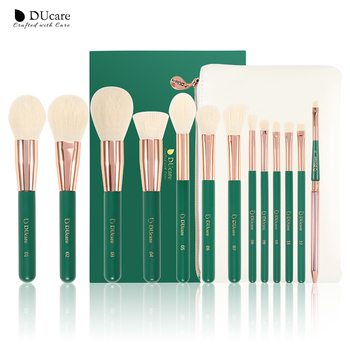 DUcare green 13pcs Makeup Brushes Set Eye Shadow Foundation Powder Eyeliner Eyelash Lip Make Up Brush Cosmetic Beauty Tool Kit ducare new 15 pcs makeup brushes set professional foundation eye shadow brush high quality cosmetic make up brush kit