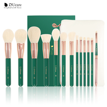 Ducare Groen 13Pcs Make Up Kwasten Set Oogschaduw Foundation Poeder Eyeliner Wimper Lip Make Up Kwast Cosmetische Beauty Tool kit