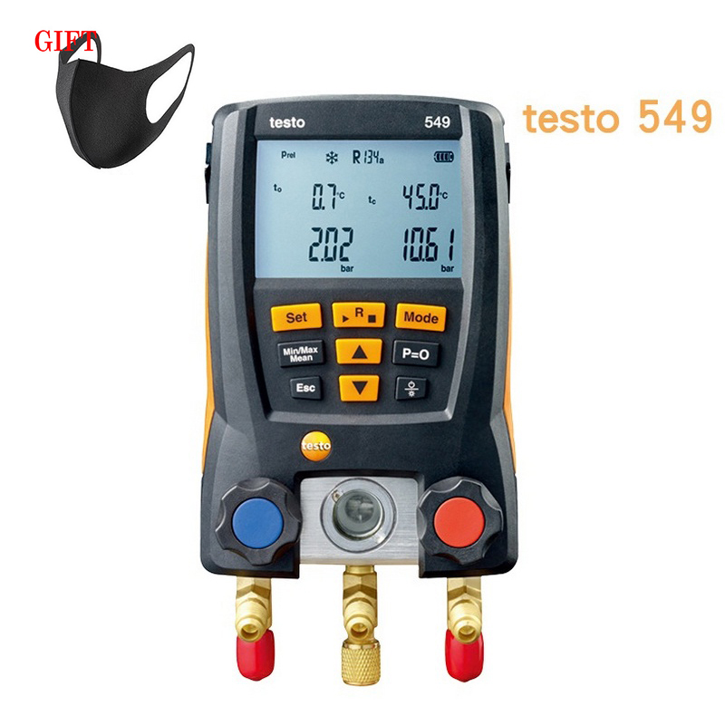 Solria Testo 550 Refrigeration Gauge Manifold Digital With Hoses Clamp Refrigerant Meter Set Probes 0563 1550 Manometro
