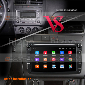 2 Din Android 10 Car Radio Player GPS Navi for Volkswagen VW Golf Passat B6 Touran Polo Sedan Tiguan Jetta Steer Wheel Control