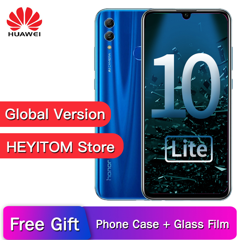 Original huawei Honor 10 Lite global version Smartphone EMUI 9 0 Full Screen 6 21 FHD