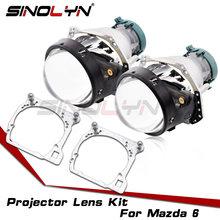 Hella 3R G5 faro lentes para Mazda 6 Bi-Xenón HID lente proyector marco adaptador reemplazar las luces del coche accesorios de modificación
