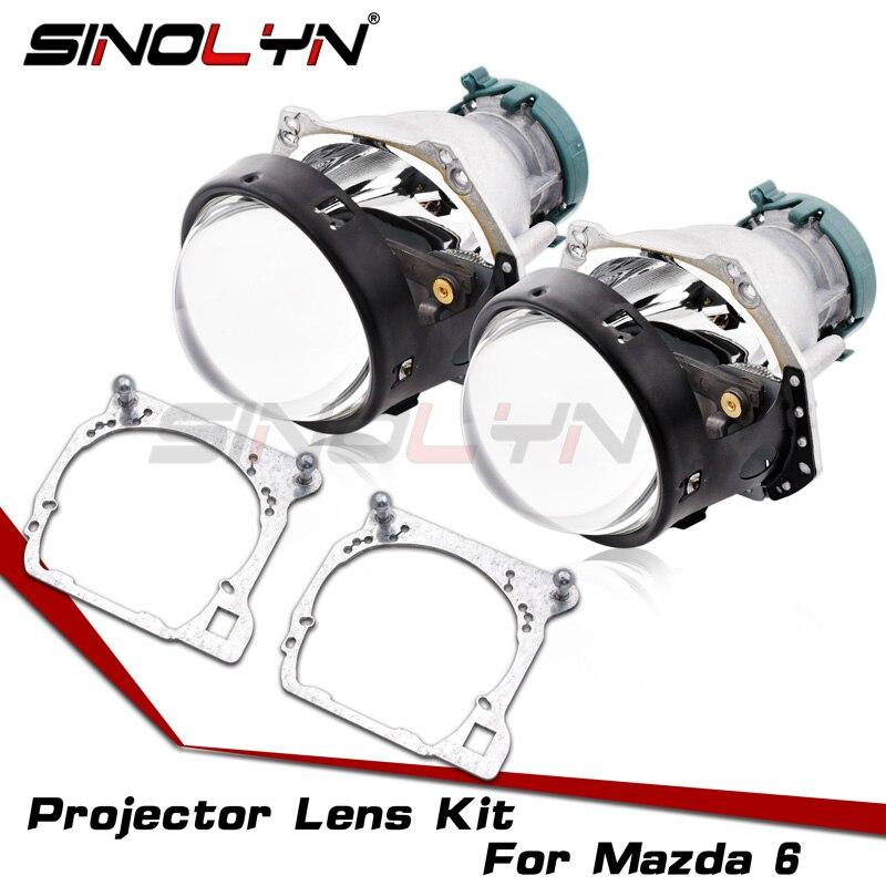 Pour Hella 3R G5 lentilles de phare pour Mazda 6 2006-2017 bi-xenon HID projecteur lentille cadre adaptateur Set remplacer accessoires Retrofi