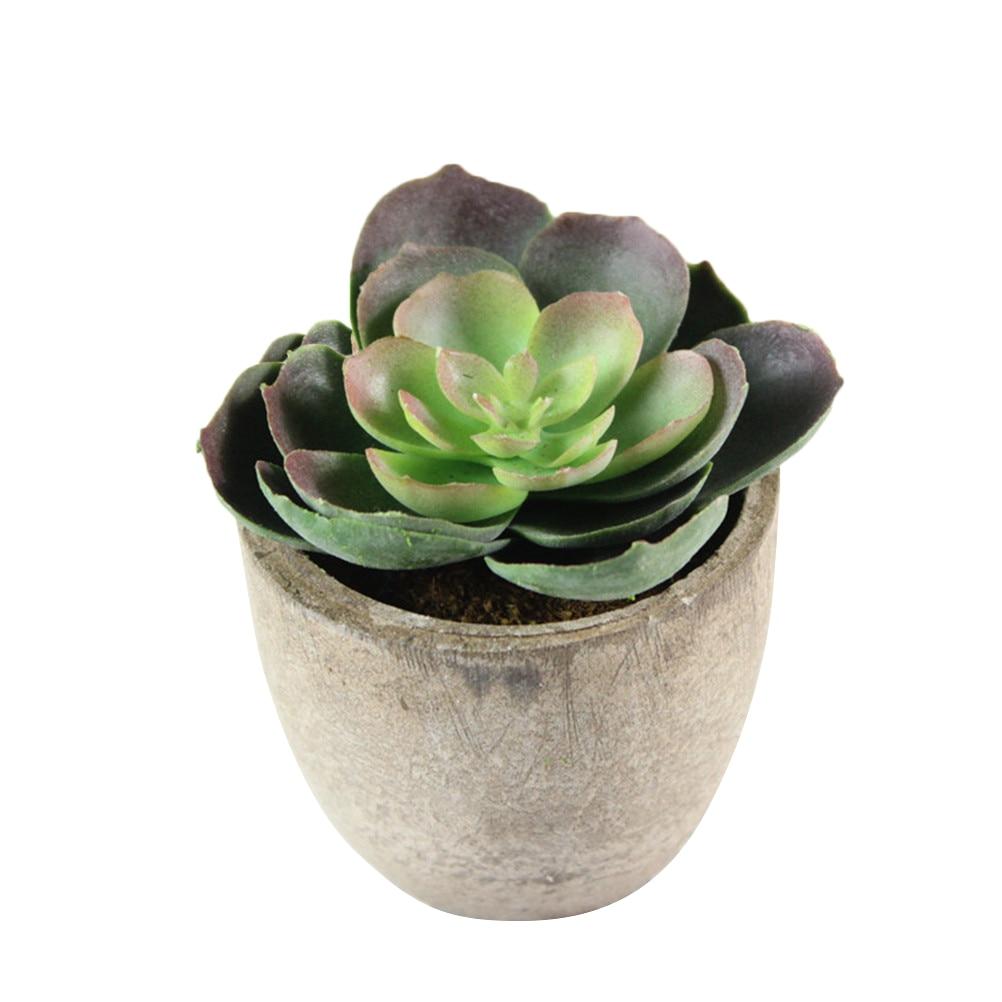 Home Artificial Succulent Plants Fake Artificial Bonsai with Pots Decorative Ball Plants Artificial Flower Mini Plants decor 8