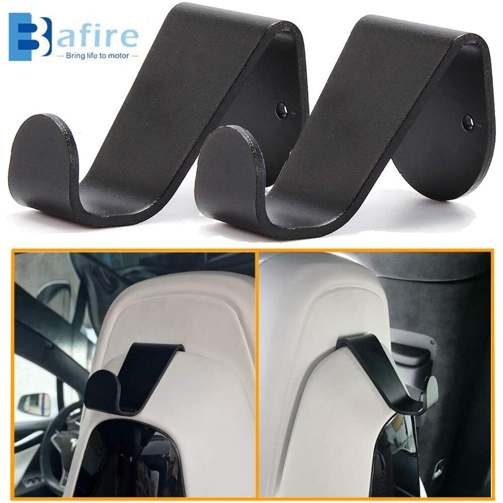 BAFIRE 2 pcs Black Car Seat Headrest Hook Fit for Tesla Model 3 S X Hanger Car Accessories Holder Auto Accessorie 2017-2020