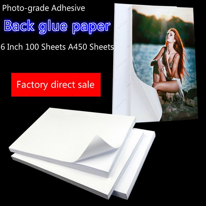 190G 135g 120g 115G A4 100sheets 6inch 200sheets Self Adhesive Magnetic Inkjet Printing With Back Glue Sticker Rc Photo Paper
