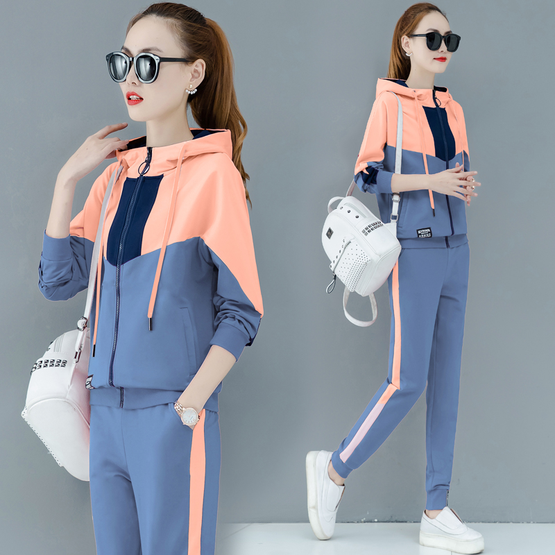 Tracksuit For Women 2019 Autumn Female Fashion Large Size Loose Hoodie Tops+pants Suits Women's Plus Size Two-piece Sets