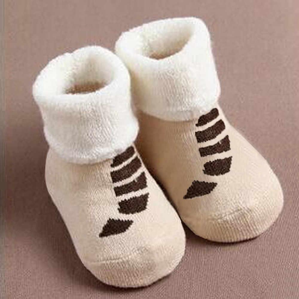 2019 venda quente meias para crianças impressão bonito infantil meias de inverno da criança do bebê meninos meninas dos desenhos animados animais anti-deslizamento de malha meias quentes