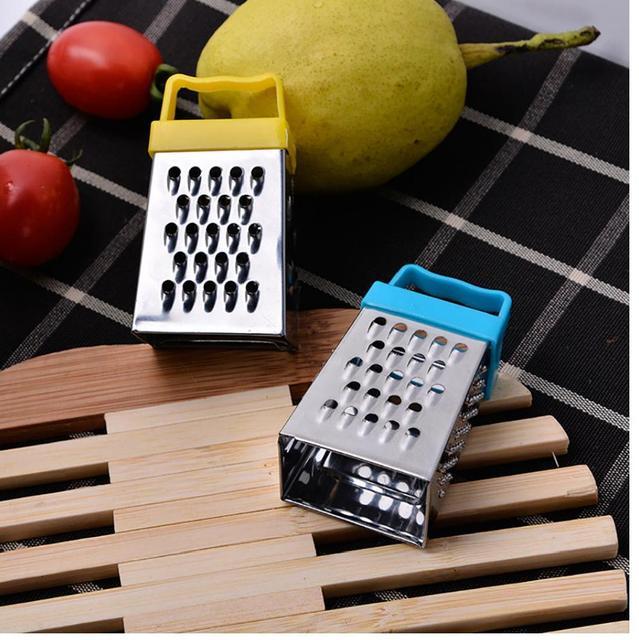 Mini râpe en acier inoxydable à 4 côtés | Meilleure pour les pommes de terre, le fromage et les légumes