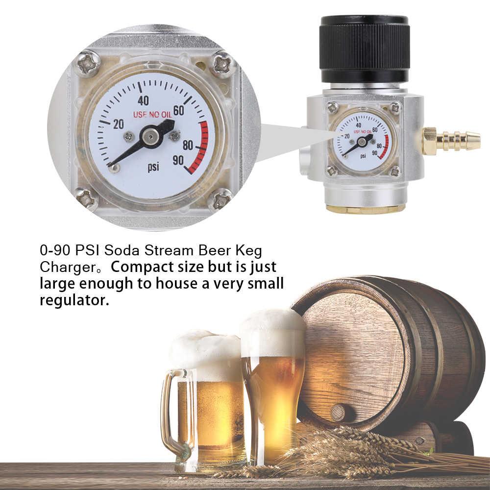Sodastream جنبا إلى جنب CO2 منظم CO2 مجموعة الشاحن الصودا تيار برميل البيرة الخشبي شاحن الملف اللولبي صمام الهليوم الغاز قطع الغيار ل ضواغط
