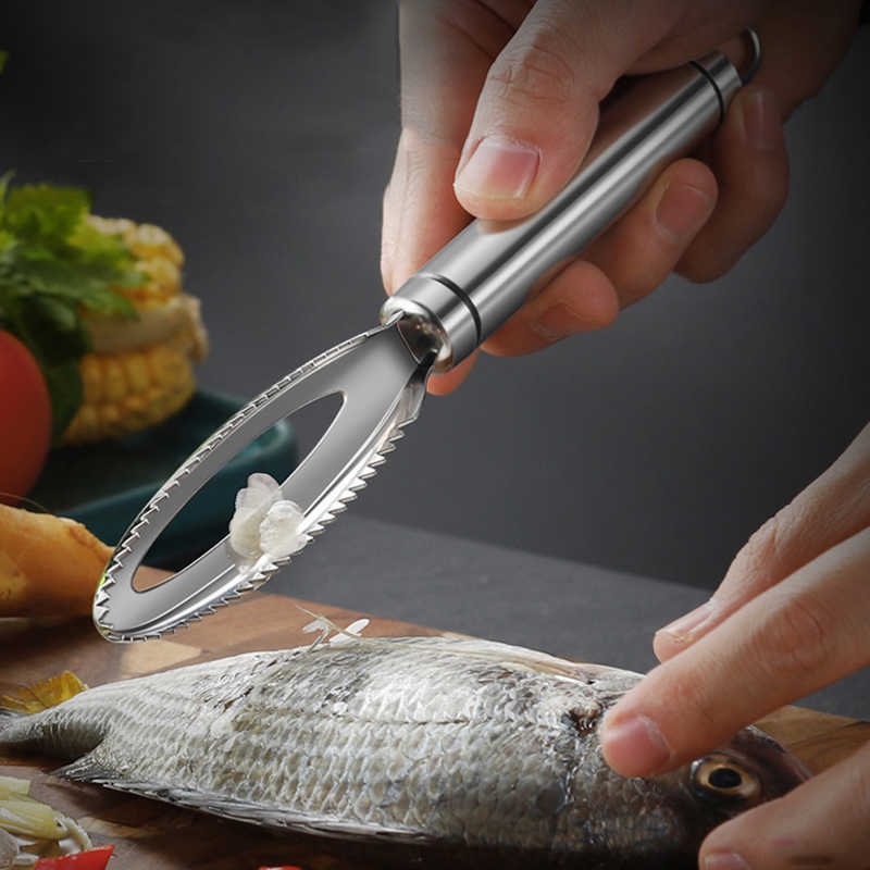 Appearantes 1 St/ück Cleaning Fish Scales Tool mit Kniebeugen f/ür Cooking Accessoires Blau