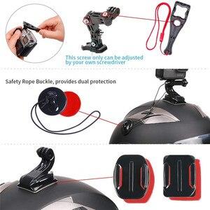 Image 2 - Sport Camera Accessoires Helm Kin Beugel Voor Gopro Hero 8 7 6 5 Sjcam Bike Motorhelm Chin Mount accessoires