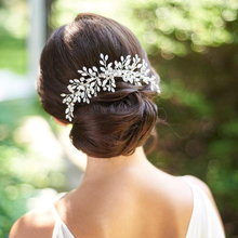 Trendy Crystal tiara Opal Rhinestone Wedding Hair Combs Headpiece Women Back Decorative Combs Bridal Hair Accessories Jewelry недорого