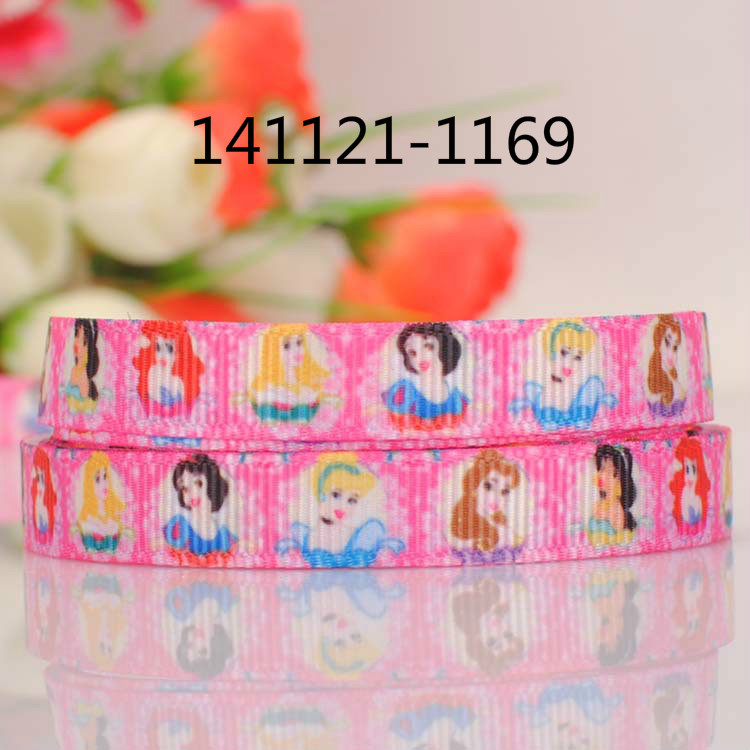 "10yards 3/8 "" 9 mm beautiful Princess pattern print grosgrain ribbon party decoration gift ribbon Free shipping