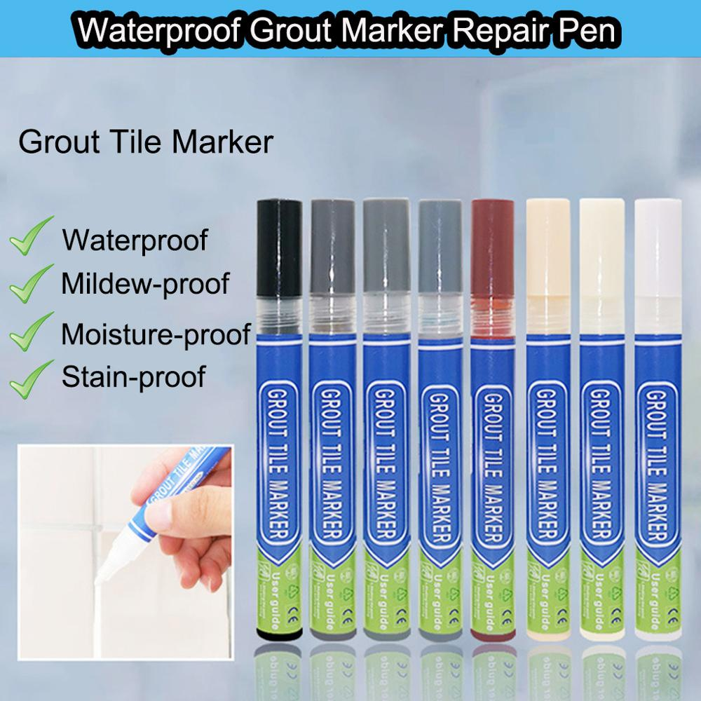 Home Tile Grout Pen Water Resistant Kitchen Instant Tile Repair Anti Mould Professional 8 Colors Grout Marker
