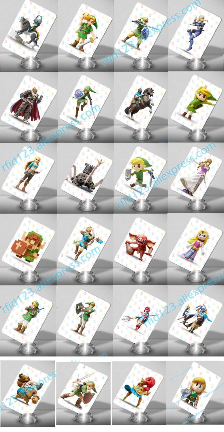24PCS NFC Card NTAG215 Work For Zelda Legend Tagmo Wrote With New Link's Awakening